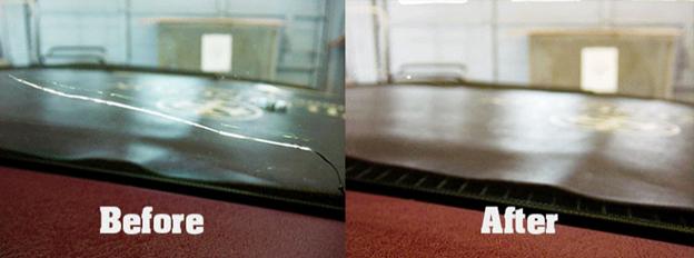 ترک خوردگی شیشه  خودرو قابل ترمیم و تعمیر